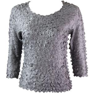 wholesale Petal Shirts - Three Quarter Sleeve Solid Pewter - One Size (S-XL)