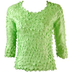 wholesale Petal Shirts - Three Quarter Sleeve Solid Lime - One Size (S-XL)