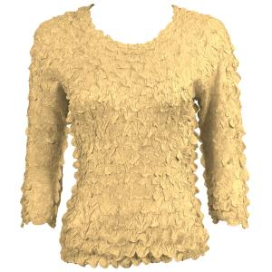 wholesale Petal Shirts - Three Quarter Sleeve Solid Light Gold - One Size (S-XL)