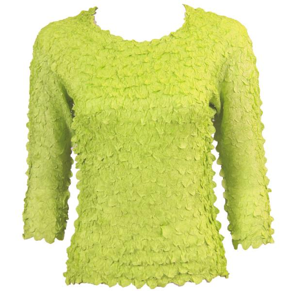 wholesale Petal Shirts - Three Quarter Sleeve Solid Light Green - One Size (S-XL)
