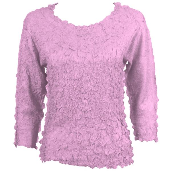 wholesale Petal Shirts - Three Quarter Sleeve Solid Light Orchid - One Size (S-XL)