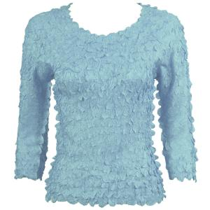 wholesale Petal Shirts - Three Quarter Sleeve Solid Azure - One Size (S-XL)