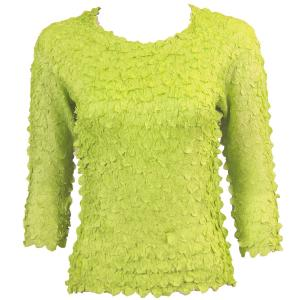 wholesale Petal Shirts - Three Quarter Sleeve Solid Light Green - Queen Size Fits (XL-3X)