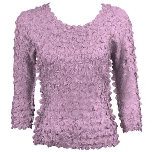 wholesale Petal Shirts - Three Quarter Sleeve Solid Violet - Queen Size Fits (XL-3X)