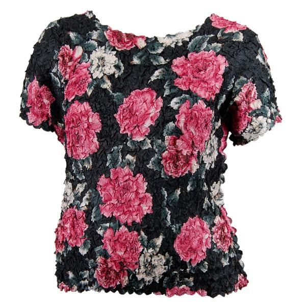 wholesale Petal Shirts - Queen Cap Sleeve Pink Floral (Special) - Queen Size Fits (XL-3X)