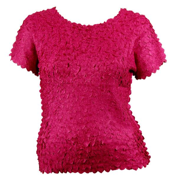 wholesale Petal Shirts - Queen Cap Sleeve Solid Pink - Queen Size Fits (XL-3X)