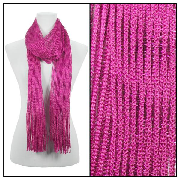 wholesale Oblong Scarves - Metallic 3117* Hot Pink -