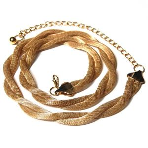 wholesale Belts - Metal & Chain* Mesh Twist - Gold -