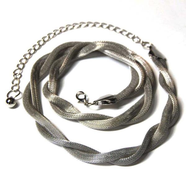 Belts - Metal & Chain* Mesh Twist - Silver -