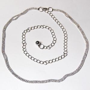 wholesale Belts - Metal & Chain* 7116 - Silver Belt - Metal & Chain -