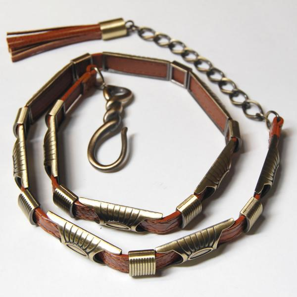 Belts - Metal & Chain* 9048 - Brown -