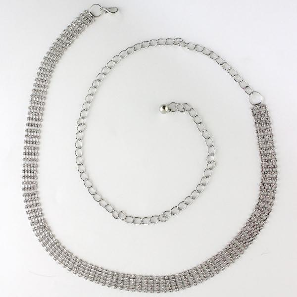 wholesale Belts - Metal & Chain* 1062 - Silver -