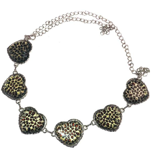 Belts - Metal & Chain* Leopard Print Hearts -