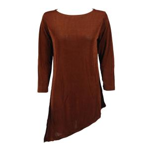 Slinky Travel Tops - Asymmetric Tunic* Brown - One Size (S-L)
