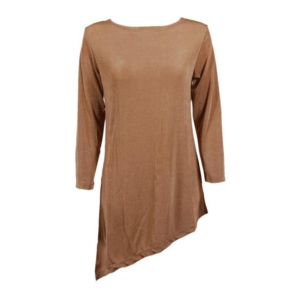 wholesale Slinky Travel Tops - Asymmetric Tunic* Champagne - Plus Size Fits (XL-2X)