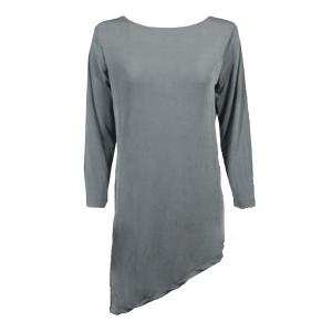 Slinky Travel Tops - Asymmetric Tunic* Silver - One Size (S-L)