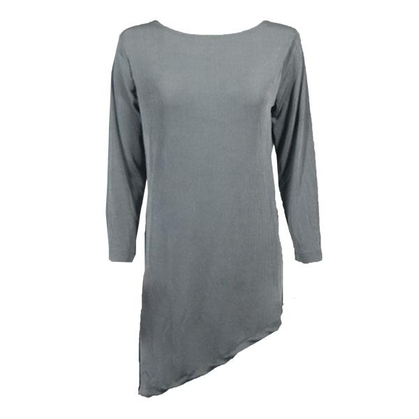 wholesale Slinky Travel Tops - Asymmetric Tunic* Silver - Plus Size Fits (XL-2X)