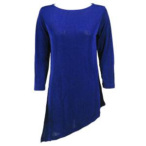 Slinky Travel Tops - Asymmetric Tunic* Royal - One Size (S-L)