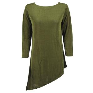 Slinky Travel Tops - Asymmetric Tunic* Olive - One Size (S-L)