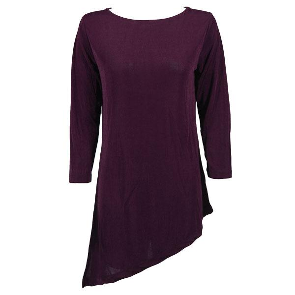 wholesale Slinky Travel Tops - Asymmetric Tunic* Purple - One Size Fits (S-L)