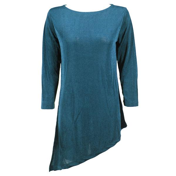 wholesale Slinky Travel Tops - Asymmetric Tunic* Teal - Plus Size Fits (XL-2X)