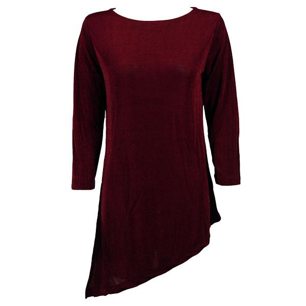 wholesale Slinky Travel Tops - Asymmetric Tunic* Wine - One Size Fits (S-L)