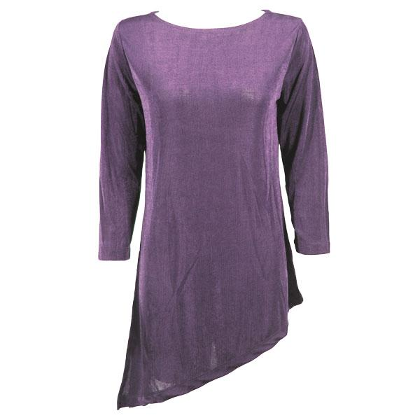 Slinky Travel Tops - Asymmetric Tunic* Dusty Purple - One Size Fits (S-L)