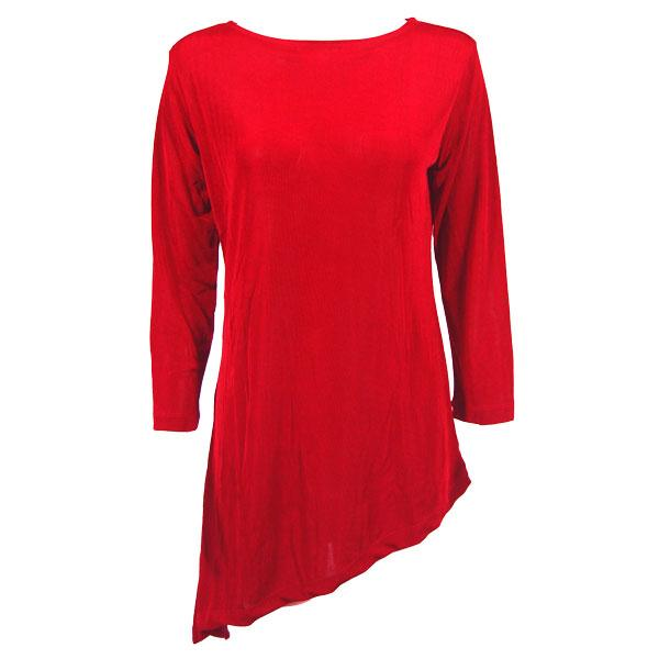 wholesale Slinky Travel Tops - Asymmetric Tunic* Red - One Size Fits (S-L)