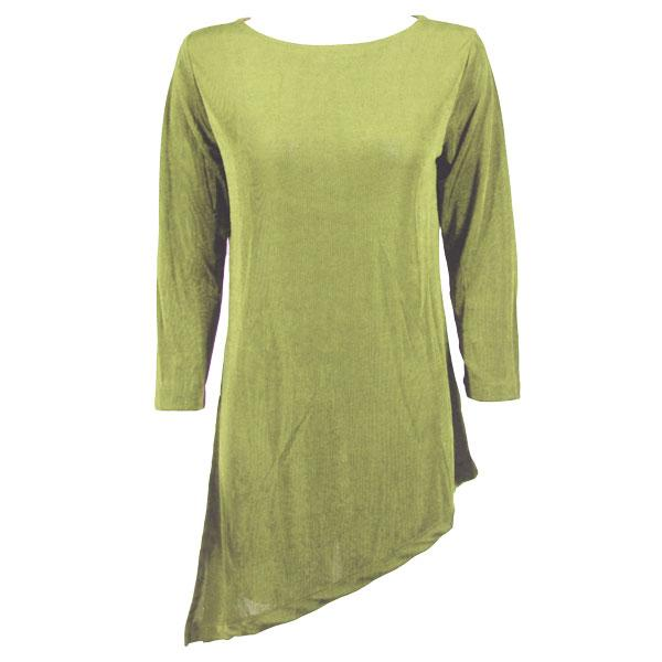 wholesale Slinky Travel Tops - Asymmetric Tunic* Leaf Green - Plus Size Fits (XL-2X)