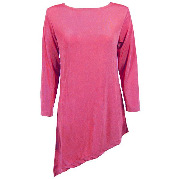 wholesale Slinky Travel Tops - Asymmetric Tunic* Raspberry - Plus Size Fits (XL-2X)