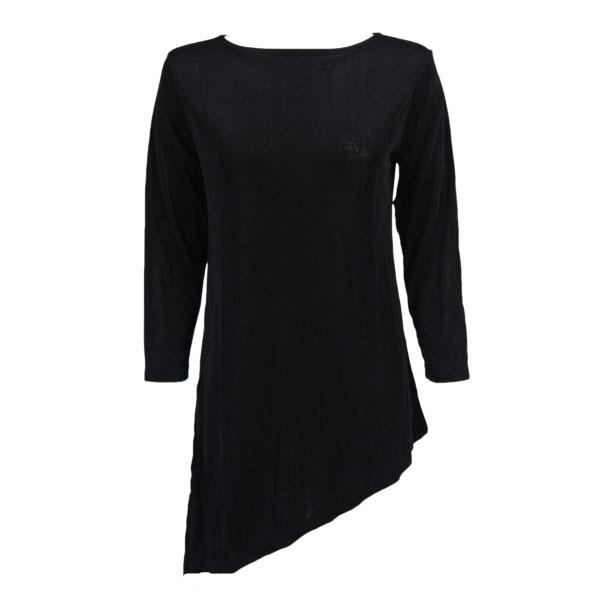Slinky Travel Tops - Asymmetric Tunic* Black - One Size Fits (S-L)