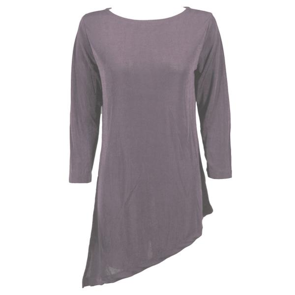 wholesale Slinky Travel Tops - Asymmetric Tunic* Lavender - One Size Fits  (S-L)