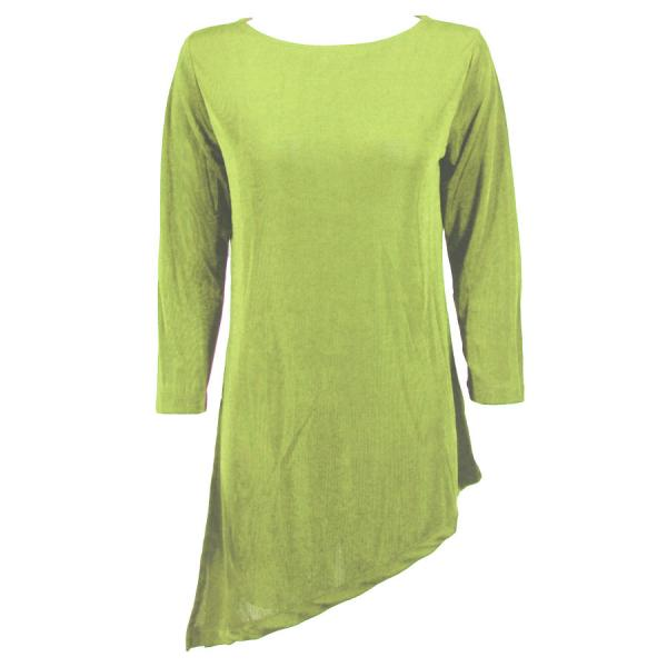 wholesale Slinky Travel Tops - Asymmetric Tunic* Green Apple - Plus Size Fits (XL-2X)