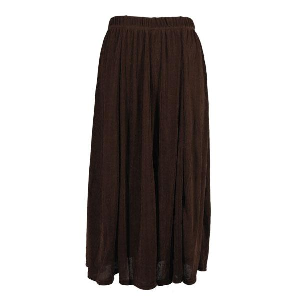 Wholesale Origami - Short Sleeve Dark Brown Slinky Travel Skirt - One Size (S-XXL)