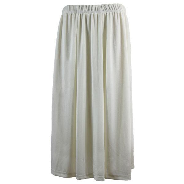wholesale Slinky Travel Skirts* Off White Slinky Travel Skirt - One Size (S-XXL)
