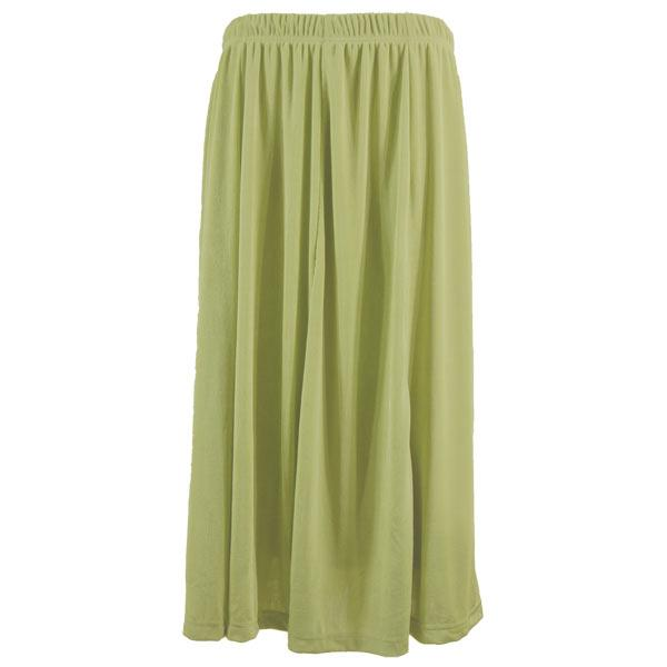 wholesale Slinky Travel Skirts* Leaf Green Slinky Travel Skirt - 25 inch inseam (XL-2X)