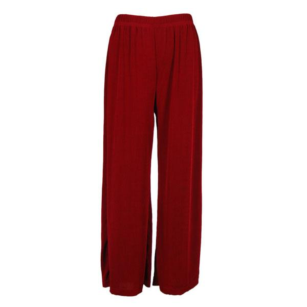 Wholesale Slinky Travel Pants* Cranberry - 25 inch inseam (S-L)