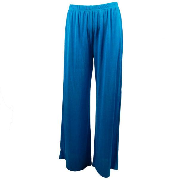 Wholesale Slinky Travel Pants* Turquoise - 25 inch inseam (S-L)