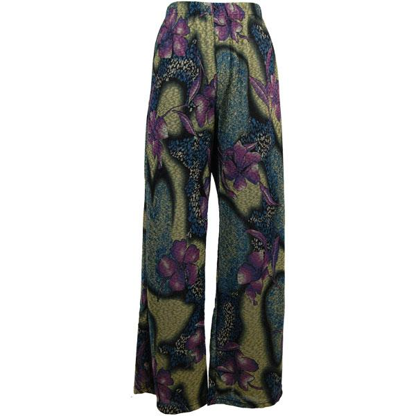 wholesale Slinky Travel Pants* Hibiscus Blue Plus - 29 inch inseam (XL-2X)