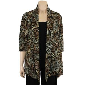 wholesale Slinky TravelWear Jacket* Animal w/Brown Gold Accent - One Size (S-L)
