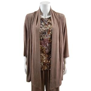 wholesale Slinky TravelWear Jacket* Taupe - Plus Size Fits (XL-2X)