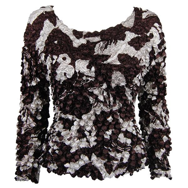 wholesale Coin Prints - Long Sleeve African Brown-White - One Size (S-XL)