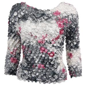 wholesale Coin Prints - Long Sleeve White-Black-Pink Floral (MB) - One Size (S-XL)