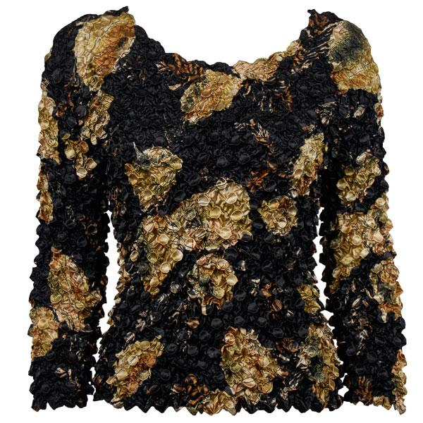 wholesale Coin Prints - Long Sleeve Black with Gold Leaves NEED BU - One Size (S-XL)