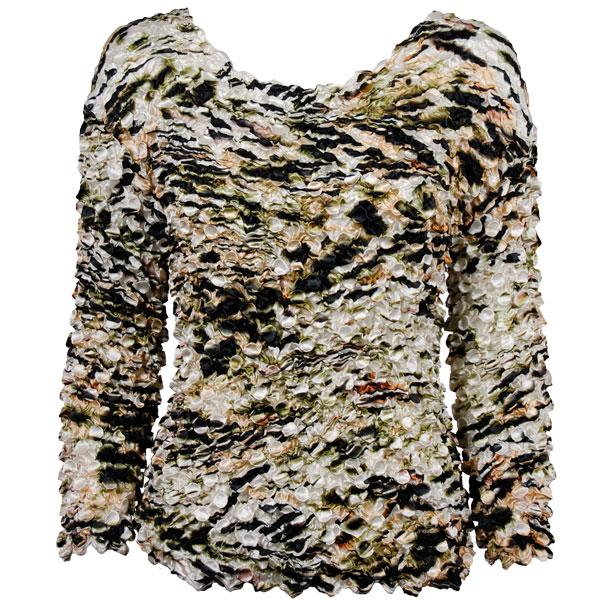 wholesale Coin Prints - Long Sleeve Olive Leopard - One Size (S-XL)