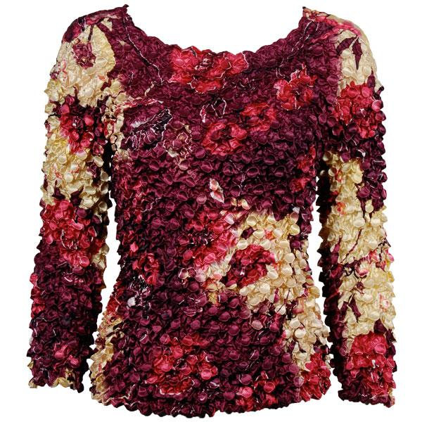 wholesale Coin Prints - Long Sleeve Rose Floral - Berry - One Size (S-XL)