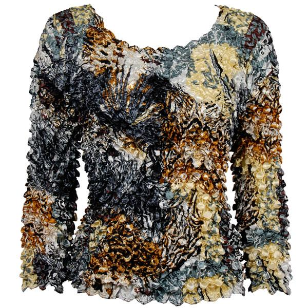 wholesale Coin Prints - Long Sleeve Abstract Black-Gold - One Size (S-XL)