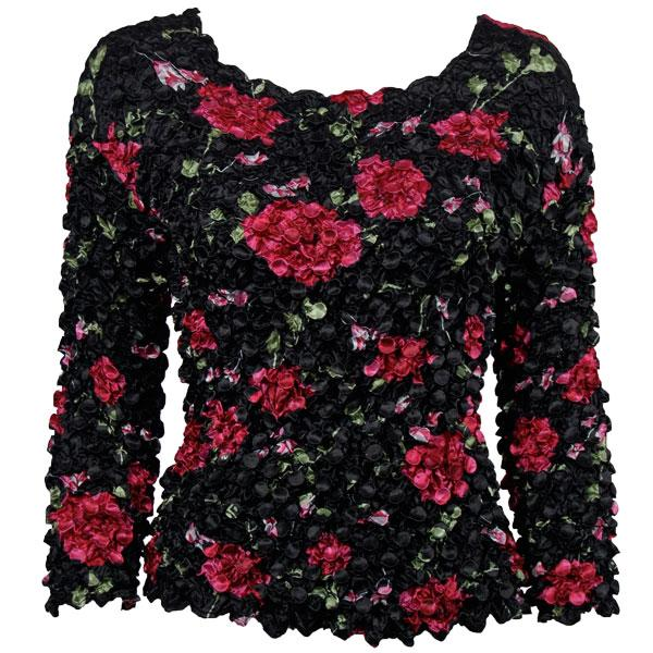 wholesale Coin Prints - Long Sleeve Black with Roses - One Size (S-XL)
