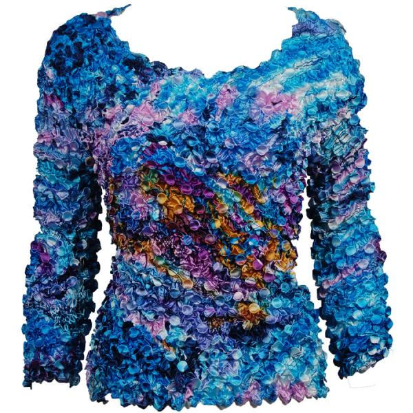 wholesale Coin Prints - Long Sleeve Abstract Paint Splatter - Blue - One Size (S-XL)