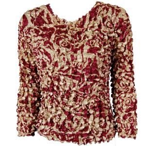 wholesale Coin Prints - Long Sleeve Burgundy-Champagne Print - One Size (S-XL)